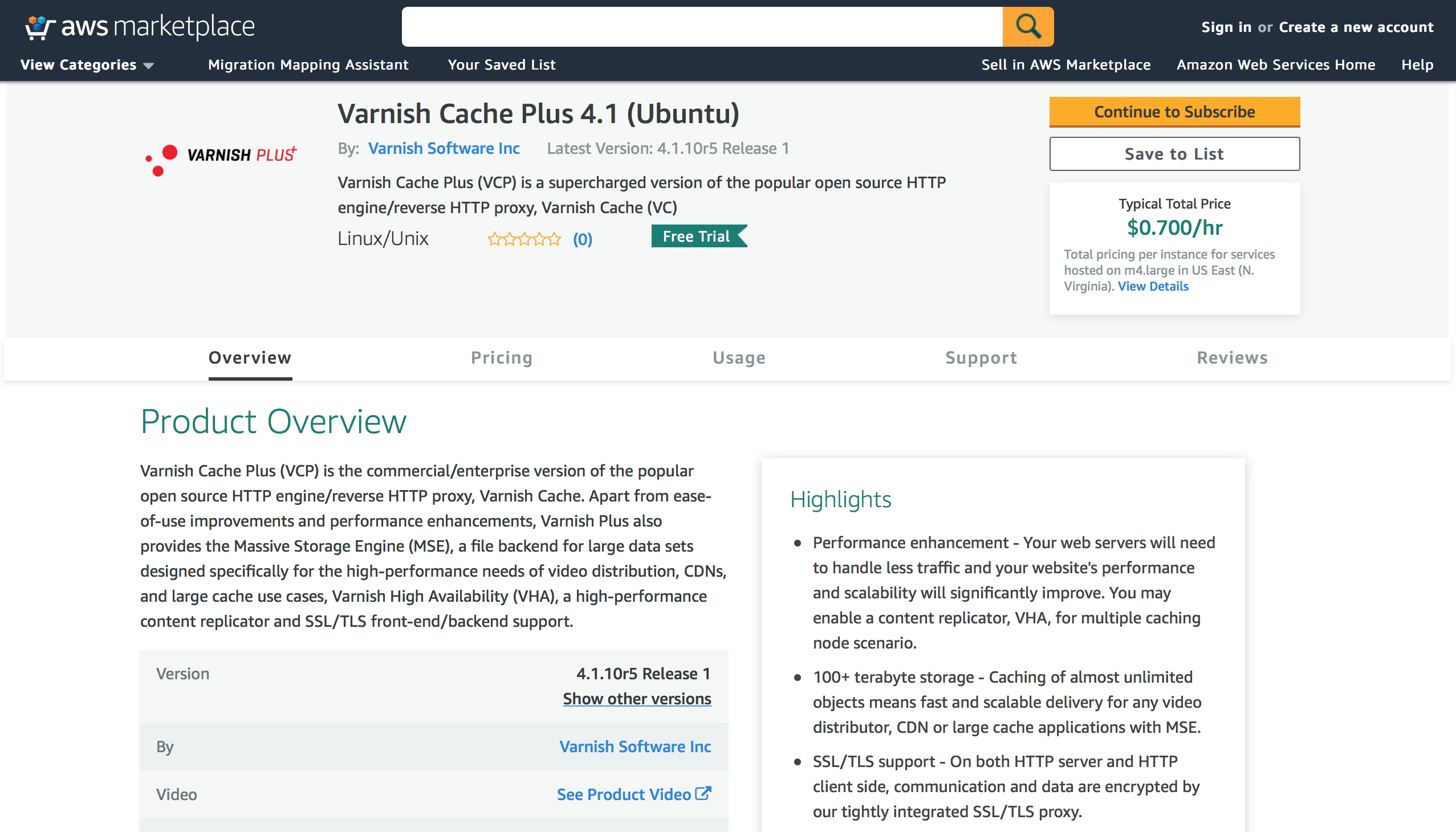 Amazon Web Services Marketplace - Varnish Cloud - Varnish Software